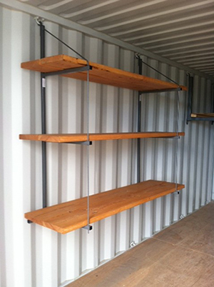 Container Shelving Display